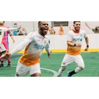 Ian Bennett of the Florida Tropics celebrates a goal vs. the St. Louis Ambush