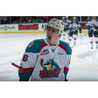 Kole Lind with the Kelowna Rockets