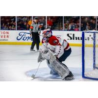 Goaltender Jeremy Brodeur with the Allen Americans