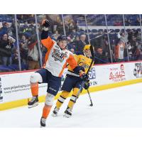 Ty Dellandrea with the Flint Firebirds