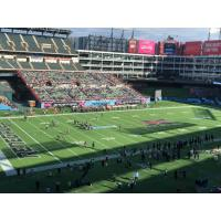 The Dallas Renegades battle the New York Guardians in an XFL game