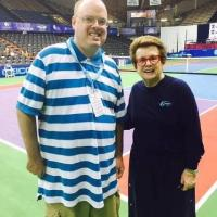 Fran Stuchbury and Billy Jean King