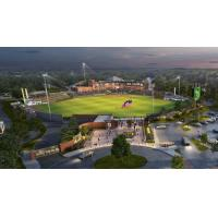 A rendering of the new stadium for the Beloit Snappers