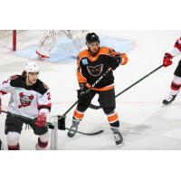 Lehigh Valley Phantoms forward Zayde Wisdom vs. the Binghamton Devils