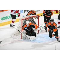 Lehigh Valley Phantoms goaltender Zane McIntyre vs. the Binghamton Devils