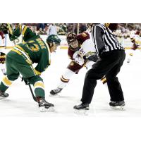 Forward Steve Owre with the University of Alberta