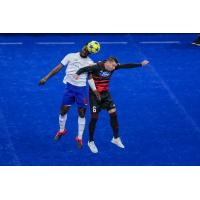 Kansas City Comets battle the Ontario Fury for possession