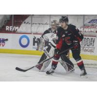 Blake Eastman of the Prince George Cougars vs. the Vancouver Giants