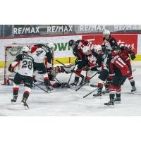Prince George Cougars defense vs. the Vancouver Giants