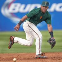 Justin Twine with the Greensboro Grasshoppers