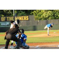 Sussex County Miners at bat against Equipe Quebec