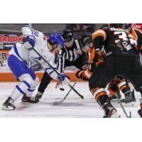 Wichita Thunder face off with the Fort Wayne Komets