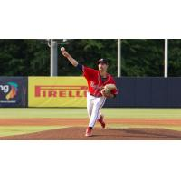 Pitcher Spencer Strider with the Rome Braves