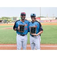 Richmond Flying Squirrels Most Valuable Player David Villar (left) and Pitcher of the Year Ronnie Williams