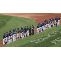 Somerset Patriots line up before the season finale