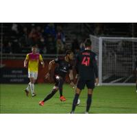 Phoenix Rising FC hunts for a scoring opportunity against Orange County SC